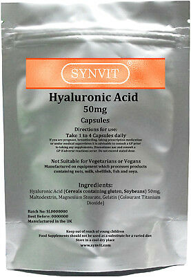 Hyaluronic Acid 50mg Capsules SYNVIT® UK Manufactured