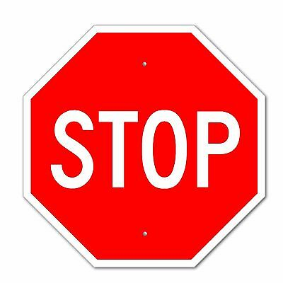 "Stop Sign Aluminum Metal Road Highway Traffic 12""X 12"" Street Signs 1/8"" thick!"