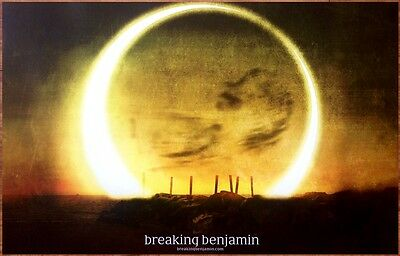 BREAKING BENJAMIN Dark Before Dawn Ltd Ed RARE New Poster +FREE Rock/Alt Poster!
