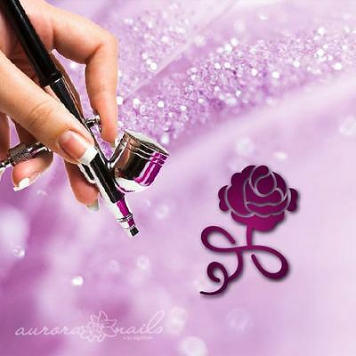 Airbrush sticky templates - F287 - NAILART - 80 Pieces Ornament Floral Rose