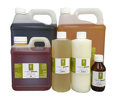 Carrier/Vegetable and Massage Oils 100% Pure - 100ml, 500ml, 1L - NakedPress