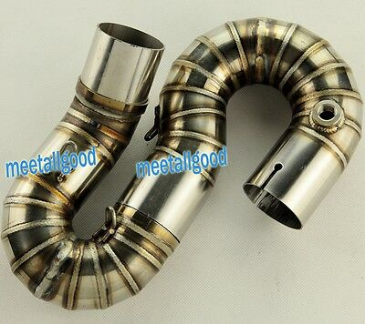 Stainless Steel Link Mid S Pipe Exhaust For HONDA 2008-2011 CBR 1000RR