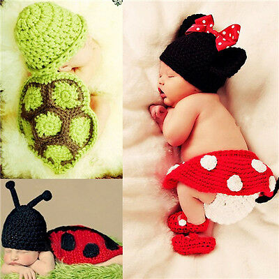 Hot Baby Infant Newborn Animal Costume Crochet Hat Photo Photography Prop Outfit