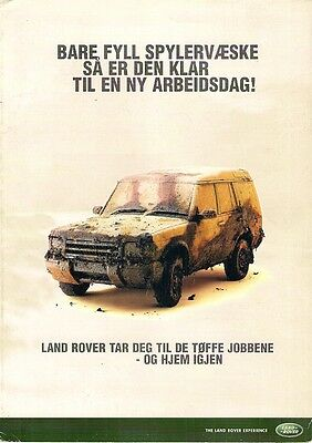Land Rover Defender & Discovery c2000 Norwegian Market Foldout Sales Brochure