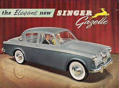Singer Gazelle Series 1 1956-57 UK Market Sales Brochure Saloon Convertible