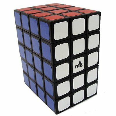 3x4x5 TomZ & mf8 Fully Functional Puzzle Sticker Speed Cube Black Twist Toy New