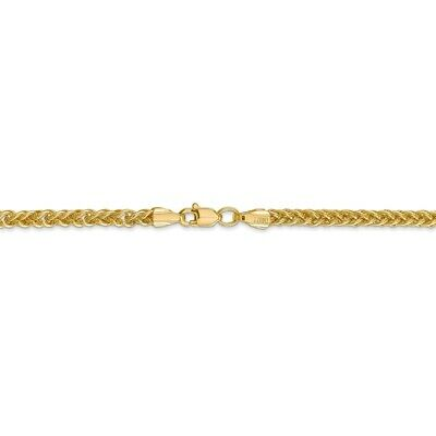 Genuine 2 mm Wheat Chain in 14k Yellow Gold - Necklace 16 to 24 Inch
