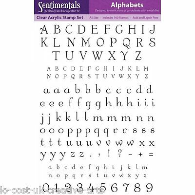Sentimentals Alphabets A5 Clear Acrylic Rubber Stamp Set - Numbers Letters
