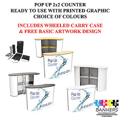 Quality Fast Install Light Pop Up Exhibition Podium Counter Inc Graphic 1440 Dpi