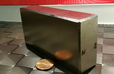 Huge Neodymium Block Magnet. Super Strong Rare Earth N52 4 x 2 x 1 Inch