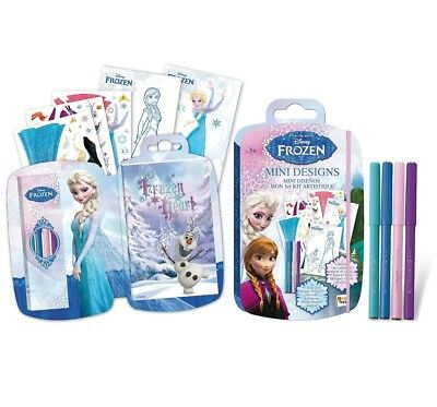 Eiskönigin Frozen Mini Skizzenblock mit Stiften Mini Sketch Book Malbuch NEU NEW