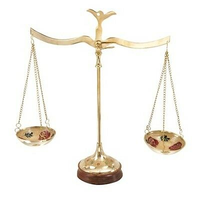 """NEW 12"""" Set of Scales for Attorney Judge BAR Justitia Brass Color Finish Lawyer"""