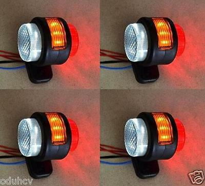 2 pairs 11 LED SIDE REAR OUTLINE 24V MARKER LIGHTS TRUCK CHASSIS TRAILER CARAVAN