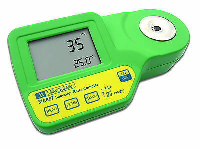 Digital Salinity Refractometer with Automatic Temperature Compensation, LCD
