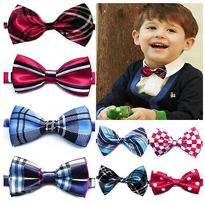 Baby Boys Infant Toddler Pre Tied Party Wedding Tuxedo Bow Tie Necktie 42 Styles