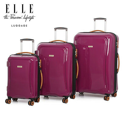 IT Luggage World Lightest St Paul Trolley 3Pc Suitcase Set Cabin Bag Lightweight