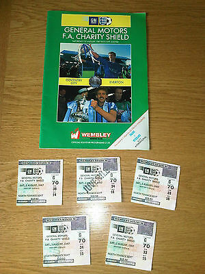 Coventry City v Everton 1987 Charity FA Charity Shield Programme & Ticket Stubs