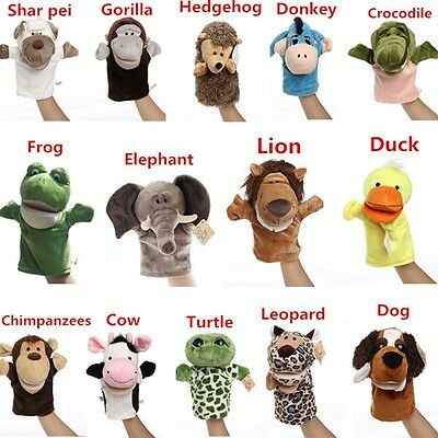 Story Learning Baby Kid Children Zoo Plush Toy Animal Hand Glove Puppets Doll