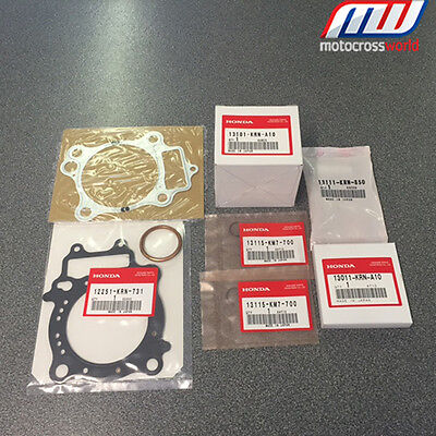 BRAND NEW in the box complete Genuine OEM Honda Piston Kit for CRF250R 2008-2009