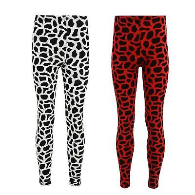 Girls Legging Kids Animal Giraffe Print Fashion Dance Leggings Age 7-13 Years