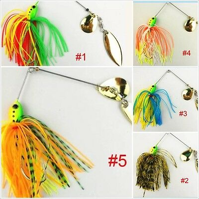 16 Gram Spinner Buzz Bait Pike Perch Bass Fishing 5 Colours To Choose From