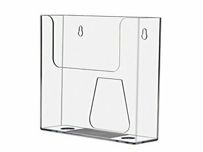 "Clear 7.5"" w Catalog Literature Brochure Holder Wall Mount Counter top"