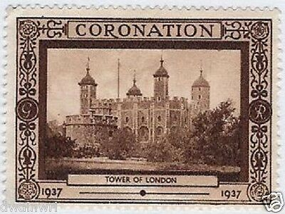 CANADA Cinderella stamp: 1937 KGVI Coronation Royalty Poster #4, MNG (dw8)