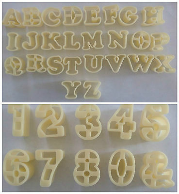 Alphabet Letter & Number Fondant Icing Sugarcraft Cutter Cake Decorating Mould