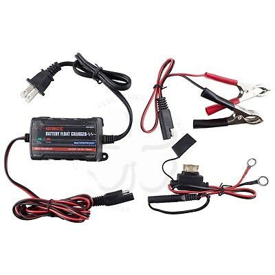12V Sportbike Automatic Battery Float Charger Maintainer Smart Tender .75A 750mA