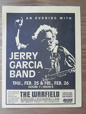 Bill Graham Presents: Jerry Garcia Band Handbill 1993