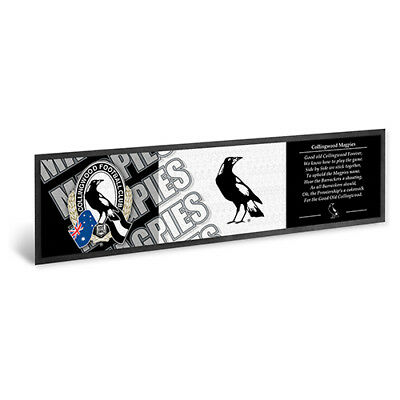 Collingwood Magpies AFL Bar Runner Mat Rubber Backed Man Cave Christmas Gift