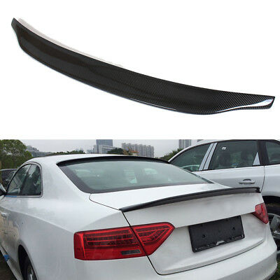 Cuztom Tuning for 2009-2016 Audi S5 RS5 CAT Style Carbon Fiber HIGHKICK Trunk LID Spoiler Wing