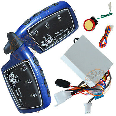 2 Way Motorcycle Alarm System Invisible Anti-Theft Function,Anti-Cutting Wire
