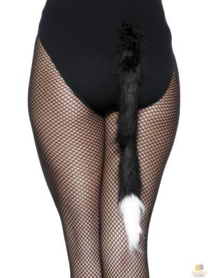 Cat Tail Costume Accessory Womens Animal Fancy Dress Up Party New