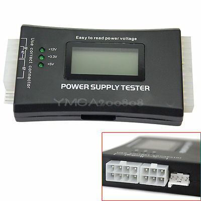 Power Supply Tester 20 24 Pin ATX SATA HDD Replacement Part for Computer PC