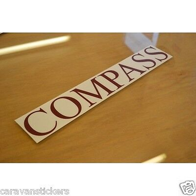 COMPASS - (STYLE 2) - Caravan Name Sticker Decal Graphic - SINGLE