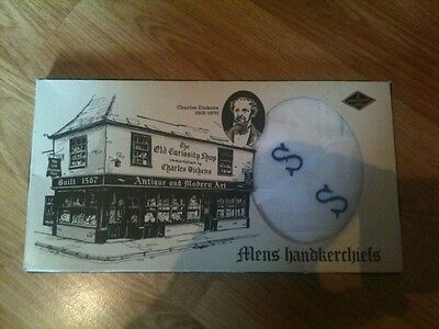 Rare Boxed Men's Handkerchiefs Charles Dickens The Old Curiosity Shop