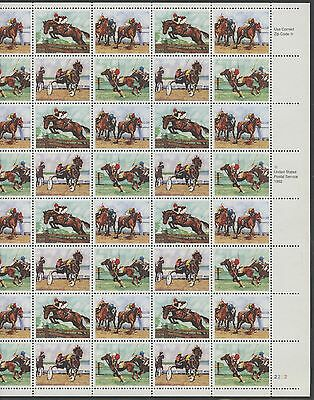 "#2759b ""SPORTING HORSES"" FULL SHEET OF 40 W/ BLACK OMITTED MAJOR ERROR WL9030"