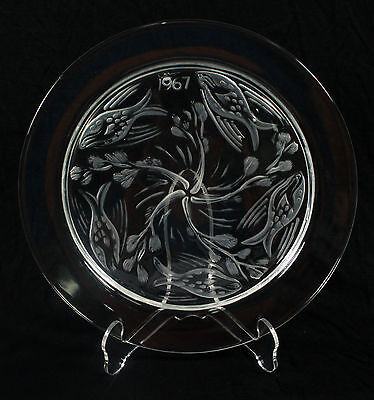 """Lalique France Crystal  Collector  Plate """" Fish Ballet-1967"""""""