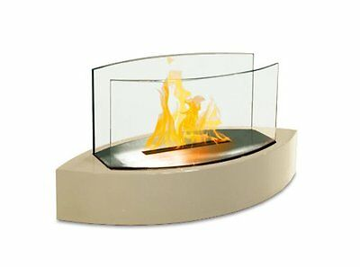 Anywhere Fireplace Beige Lexington Tabletop Bio Fuel Ethanol Indoor Outdoor Home