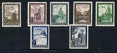 STAMPS  AUSTRIA  1947 AIR    50g to 10 S  (MNH/ MLH)  lot A112