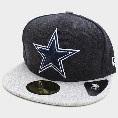 buy online 481f4 54d3d Dallas Cowboys New Era 2-Tone Heather Navy Blue Heather Gray 59Fifty Fitted  Hat