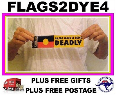 Deadly Sticker Aboriginal flag NAIDOC Indigenous flag + FREE Gifts