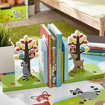 Fantasy Fields Childrens Enchanted Woodland themed Set of 2 Kids Wooden Bookends