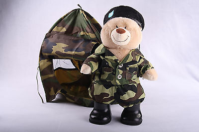 BUILD A BEAR Army Camouflage 17  Stuffed Animal Plush Retired GI and Camo Tent & BUILD A BEAR WORKSHOP CAMO PLUSH STUFFED ANIMAL With ARMY CAMP ...