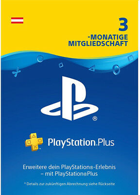 AT PlayStation Plus 3 Monate [90 Tage] Austria Karte Key Code PSN PS4 PS3 PSP
