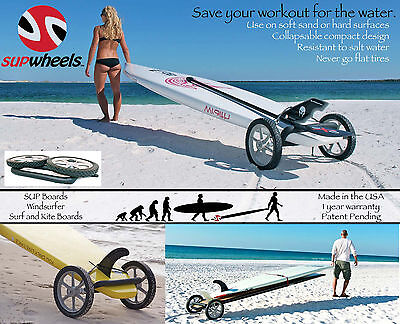 Standup paddle board carrier - Paddle Surf Board Wheeled trolly by SUP Wheels b