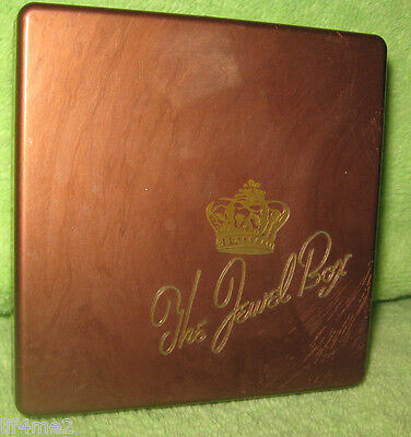 "Vintage ""The Jewel Box"" Cocktail Coasters - In Original Case - 1940's"