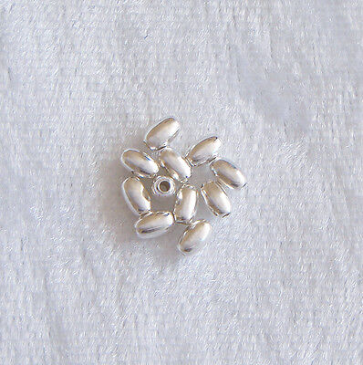 3mm x 5mm Sterling Silver Oval Spacer Beads