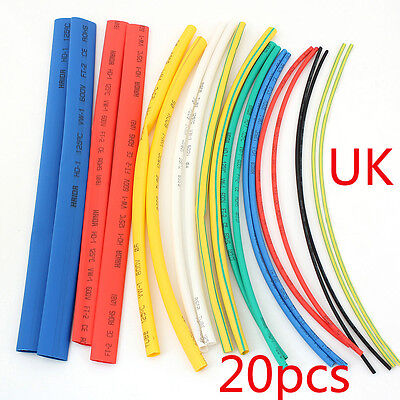 20X Heat Shrink Tube Assortment Wire Wrap Electrical Insulation Sleeving